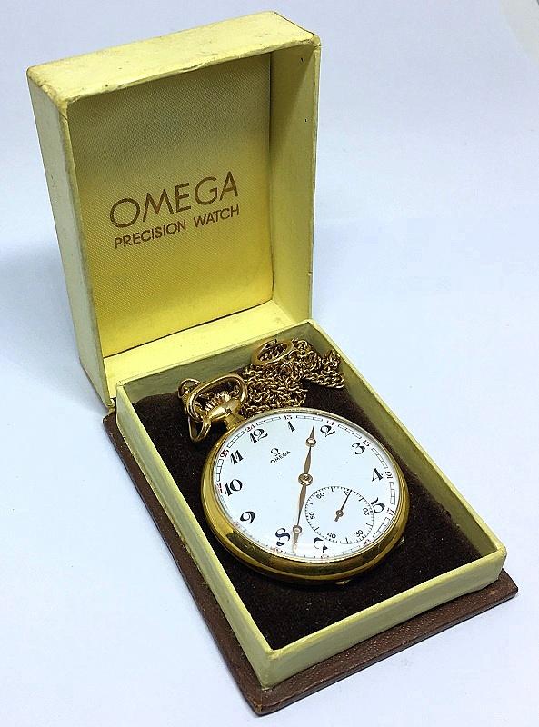 bb5d7e000fc Zoom. Lote 134. Carregando... Tipo  Relógio. OMEGA-Antigo relógio de bolso  ...