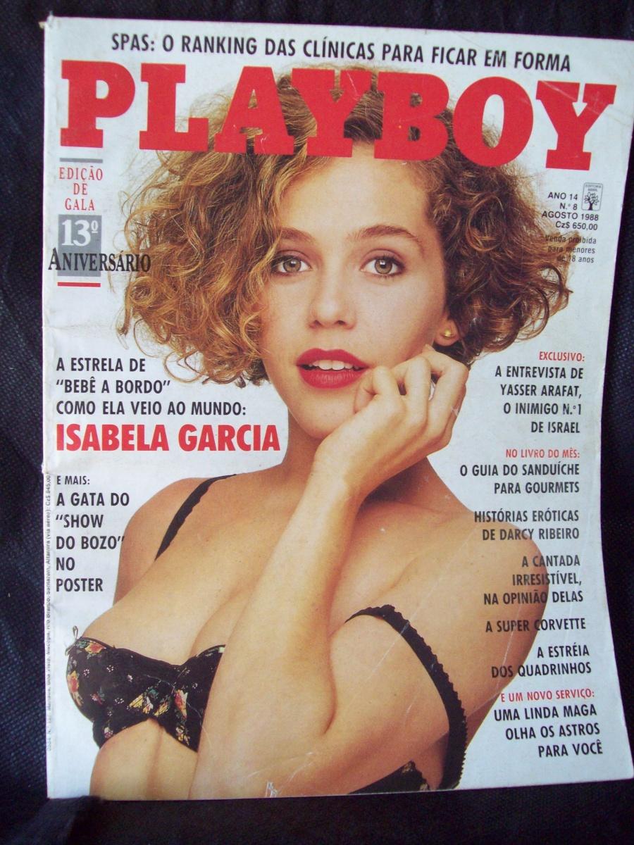 PLAYBOY AGOSTO DE 1988 - ISABELA GARCIA - ÓTIMO ESTADO