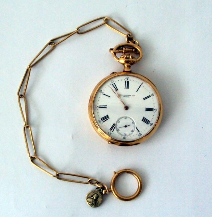 a5a339f41c0 Zoom. Lote 1055A. Carregando... Tipo  Jóias. Patek Philippe - Relógio de  bolso da famosa relojoaria ...