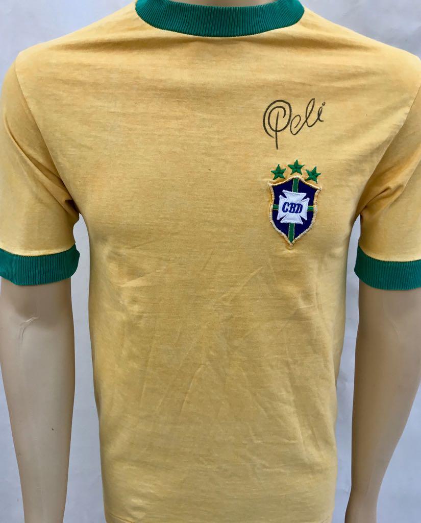 PELÉ RARA CAMISA OFICIAL DA SELEÇÃO BRASILEIRA DE 1970 7791e6b4b4d77