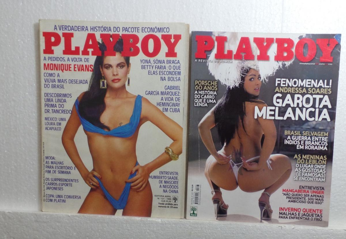 Andressa Soares Playboy revista antiga- 2 revistas playboy que são: nº 131 de 1