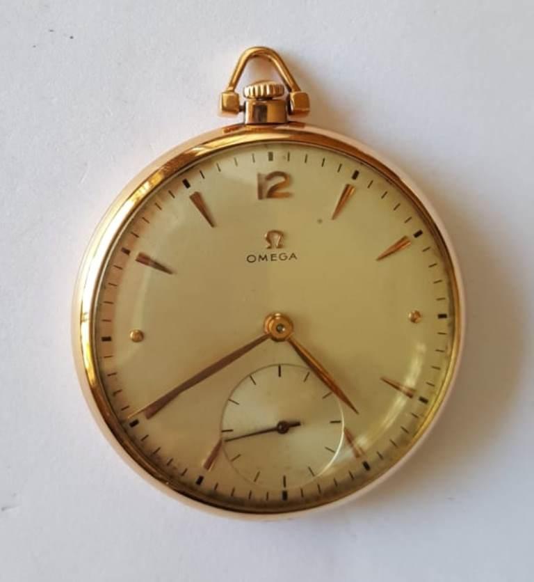 a263f86b009 Relógio de bolso Omega em ouro 18 K