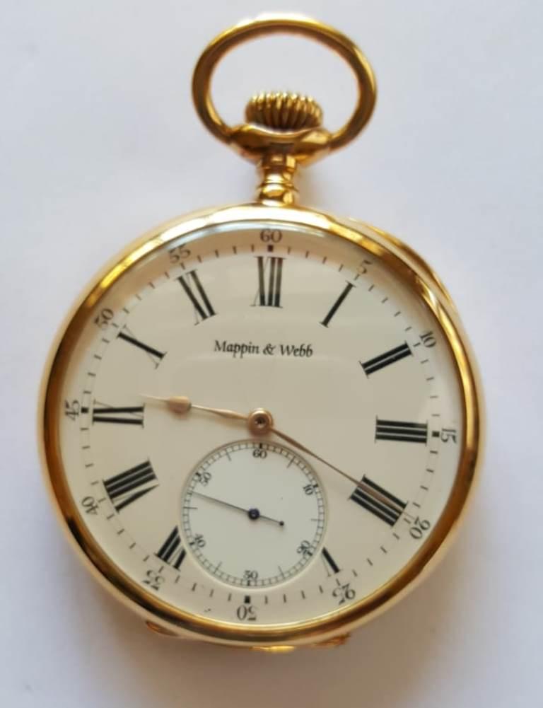 ee0346ecf82 Relógio de bolso em ouro 18 K da marca