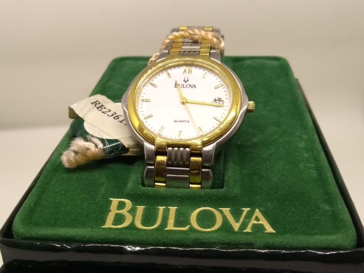 e72aa86cb18 Relógio Bulova Na Caixa Aço Dourado