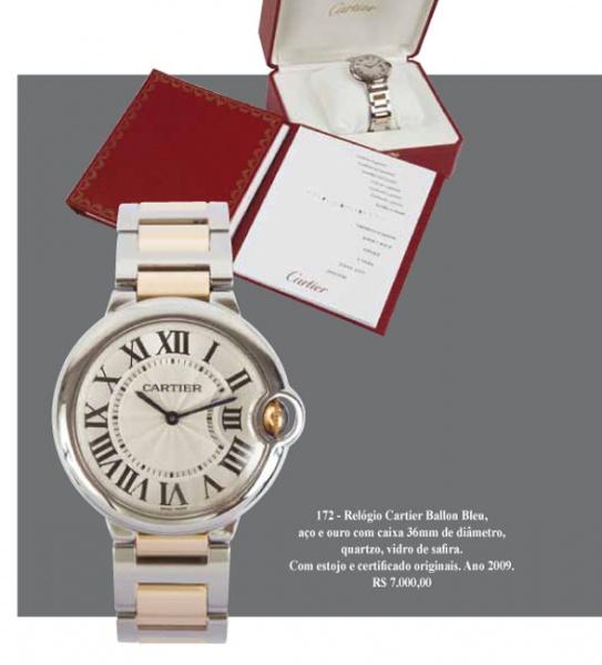 4fbbb435391 Relógio Cartier Santos Ronde