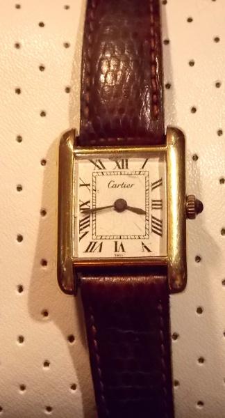 ca1faff980b CARTIER TANK SWISS MADE ELECTROPLATED- antigo e maravilhoso franco Suiço da  .