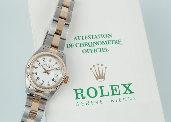 3f75cb7bd5a Relógio ROLEX oyster perpetual date pequeno