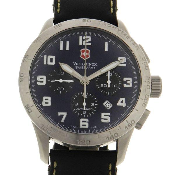 285b4d7d8be Relógio Victorinox Swiss Army Airboss 6 Automatic Chronograph - Caixa em  aço - Pulseira em couro - Tamanho da caixa  45mm - Funções  Horas