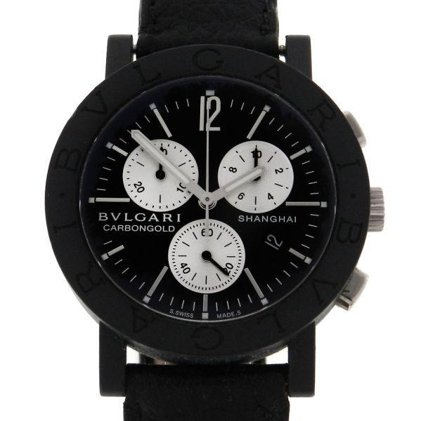 15384254c27 Relógio Bulgari Carbon Gold ` Shanghai ` Série Limitada de 999 peças - Caixa  em fibra de carbono - Pulseira em couro - Tamanho da caixa 38mm - .