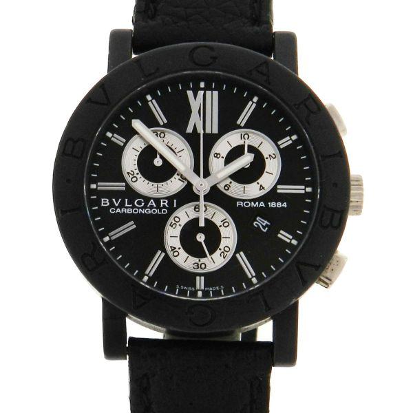 14533e9c4e0 Relógio Bulgari Carbon Gold `Roma` Série Limitada - Caixa em fibra de  carbono - Pulseira em couro - Tamanho da caixa  38mm - Funções  Horas