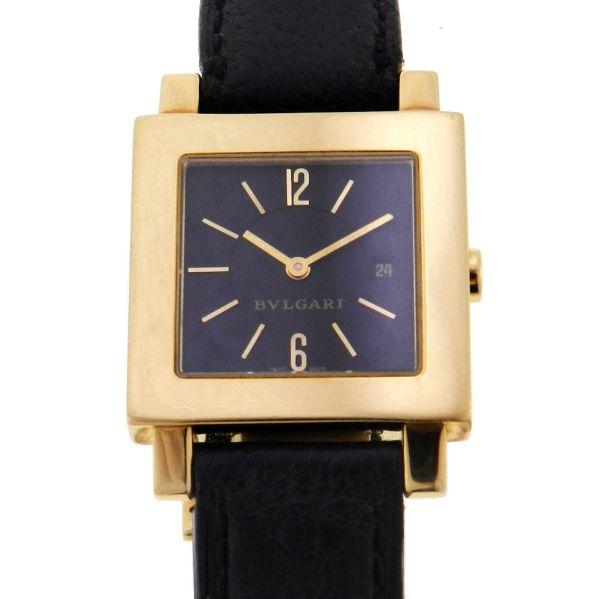 f46710391df Relógio Bulgari Bvlgari Quadrato - Caixa em ouro amarelo 18k - Pulseira em  couro - Tamanho da caixa 27mm x 27mm ( Sem contar garras ou coroa) - .