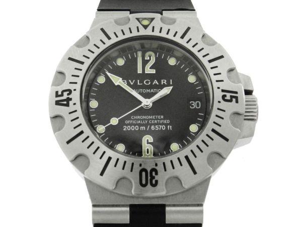 5f41ecedf10 Relógio Bulgari Scuba 2000M 6570ft - Caixa em aço - Pulseira em borracha -  Tamanho da caixa 42mm - Funções  Horas