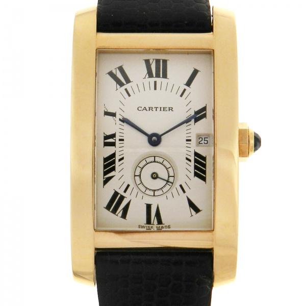 e235b03b1d8 Relógio Cartier Tank Americano - Caixa em Ouro Amarelo - Pulseira em Couro  - Tamanho da caixa  23mm x 31mm (Sem contar garras ou coroa) - Funções  .