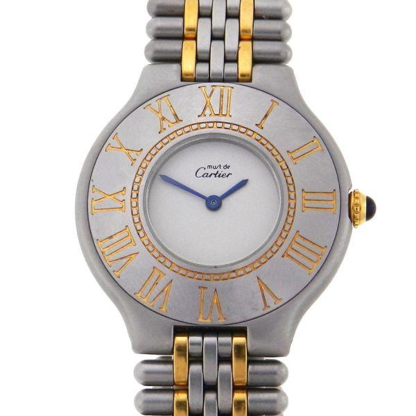 fe3b2a09aff Relógio Cartier Must Sec 21 - Caixa e Pulseira em aço e ouro - Tamanho da  caixa 31mm ( Sem contar garras ou coroa) - Funções  Horas e minutos - .