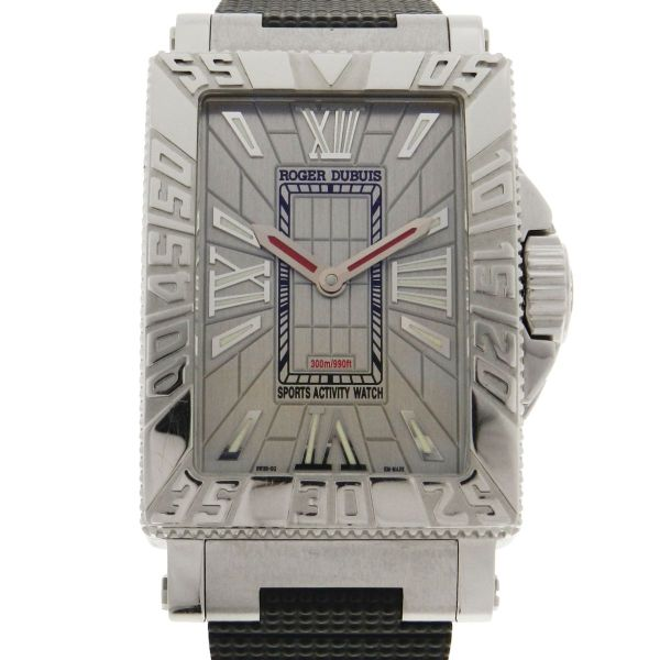 2c5af0d8d59 Relógio Roger Dubuis SeaMore - Serie Limitada de 888 peças - Caixa em aço e  aro em ouro branco 18k 750 - Pulseira em borracha - Tamanho da caixa  .