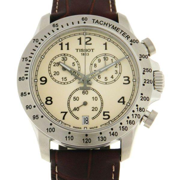 3956d227013 Relógio Tissot V8 Chronograph - Caixa em aço - Pulseira em couro - Tamanho  da caixa  43mm - Funções  Horas