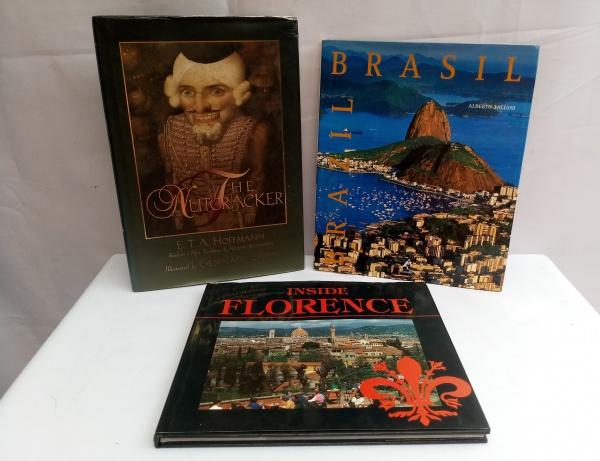 67e5c145a Lote composto 3 Livros (maior aprox. 31 x 22cm), sendo: Brasil, Alberto  Taliani, capa dura, ricamente ilustrado, 128 páginas, Livro História de THE  .