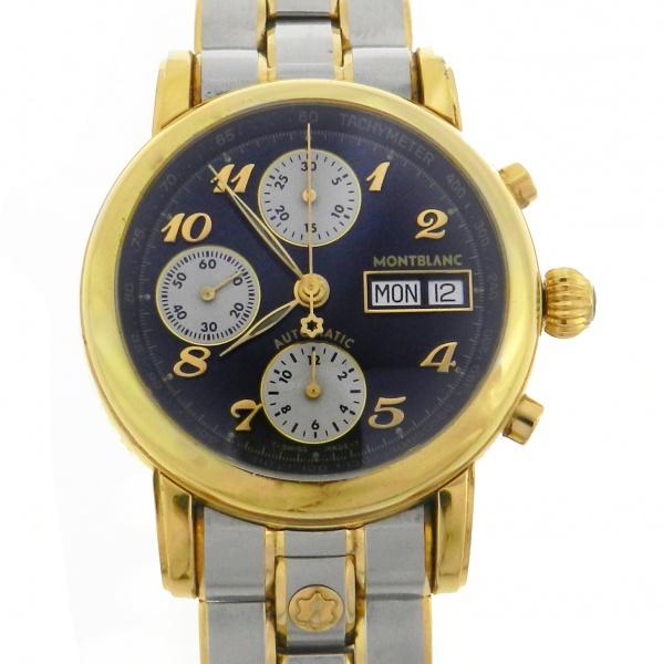 5b8d30277bd Relógio Mont Blanc Star Chronograph - Classique Meisterstuck - Caixa e  Pulseira em aço com detalhes em plaque de ouro - Tamanho da caixa  38mm -  Funções  ...