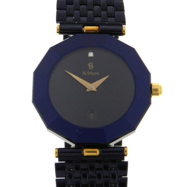 b977efcf874 Relógio H.Stern Safira - Caixa em bloco de safira - Pulseira em aço -  Tamanho .