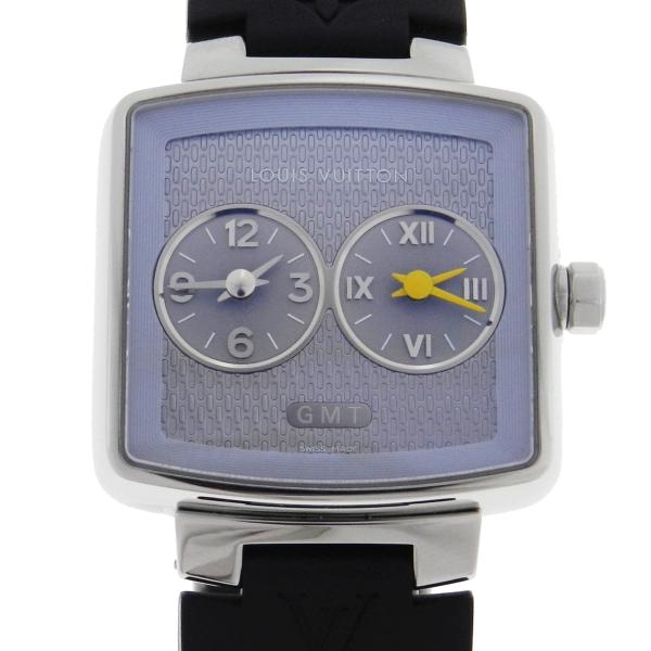 aa86b1cdab1 Relógio Louis Vuitton GMT - Caixa em Aço - Pulseira em Borracha - Tamanho  da .