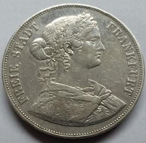 MOEDA DA ALEMANHA -  2 THALERS FRANKFURT - 1861