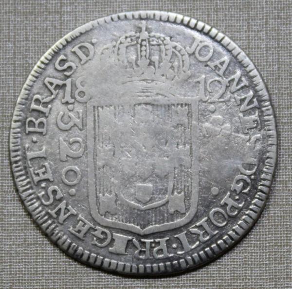 MOEDA DO BRASIL - 320 RÉIS - 1812 -M - REC. S/ 300 REIS - SÉRIE J - BAHIA
