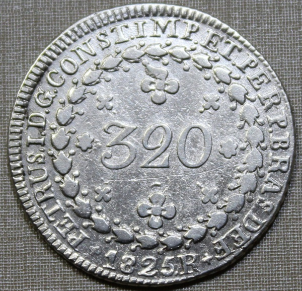 BRASIL - 320 RÉIS - 1825 R