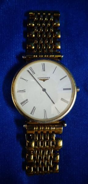 Relógio Longines, banhado à ouro, ultra-slim (extra-fino), em perfeito estado.