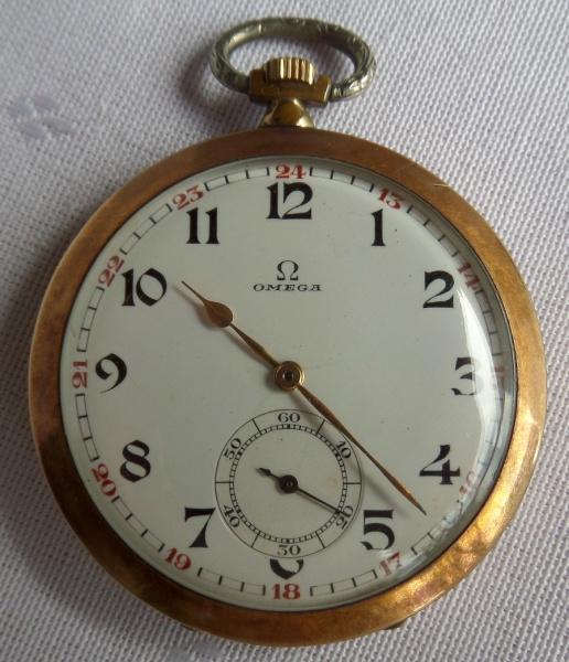 2420aff942c Antigo relógio de bolso suíço em plaquet dor da marca Ô