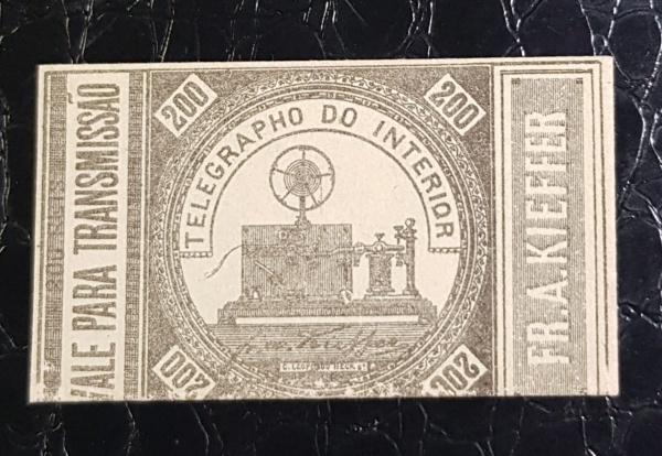 SELO TÉLEGRAFO- T- 7  1873  VALE PARA TRANSMISSÃO   - NOVO  900 UFs