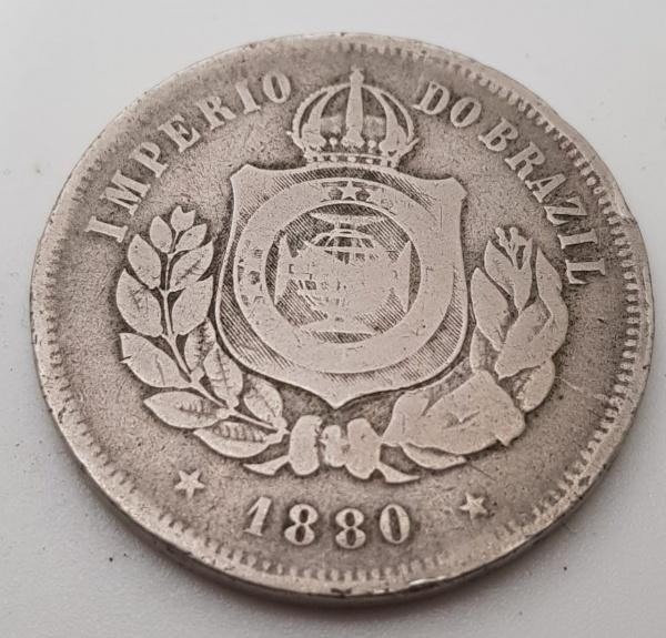 MOEDA  200 RÉIS  1880  CUPRO NIQUEL