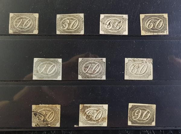 Inclinados- Parte de Coleção 10 Selos -Novos /Usados /Carimbos-Estimativa -+2000 UFS