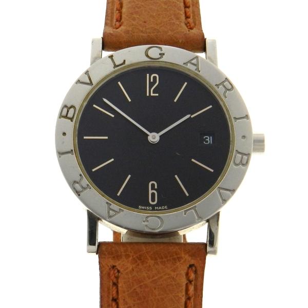 6f406a0fd31 Relógio Bulgari Bvlgari - Caixa em aço - Pulseira em couro - Tamanho da  caixa  33mm - Funções  Horas