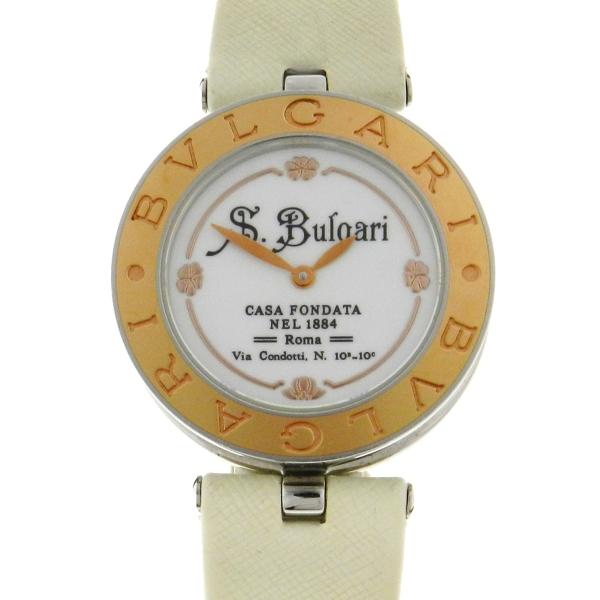 ab8869d09bb Relógio Bulgari Bvlgari B-Zero - Série Limitada S. Bulgari - Caixa em aço e  ouro rose 18k 750 - Pulseira em couro - Tamanho da Caixa  30mm - Funções   Horas ...