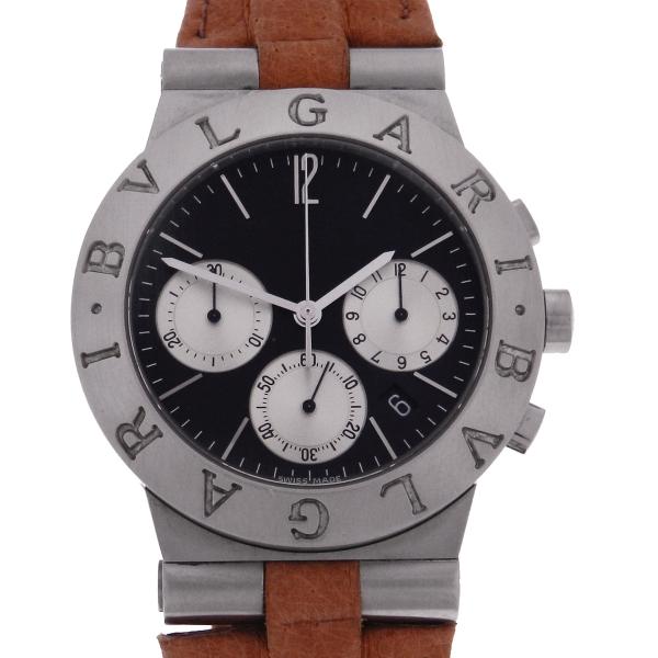 595a410e81a Relógio Bulgari Bvlgari Diagono SportLine Chrono - Caixa em Aço - Pulseira  em Couro - Tamanho da caixa  36 mm - Funções  Horas - Minutos - Segundos ...
