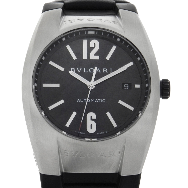 2b5258f69a2 Relógio Bulgari Ergon - Caixa em aço - Pulseira em couro - Mostrador em  Fibra de Carbono - Tamanho da caixa 40mm x 48mm - Funções  Horas