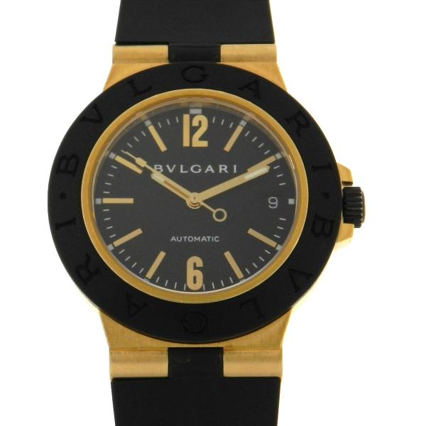 50fb2f235c4 Relógio Bulgari Bvlgari Diagono Gold Automatic - Caixa em ouro amarelo 18k  750 - Pulseira em borracha - Tamanho da caixa  38mm - Funções  Horas