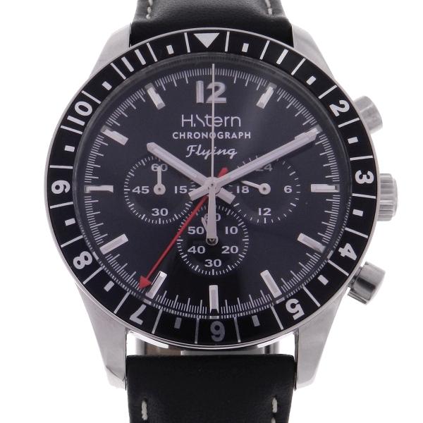 03177f69f84 Relógio H.Stern Flying Chronograph GMT - Caixa em aço - Pulseira em aço -  Tamanho da caixa  40mm - Funções  Horas