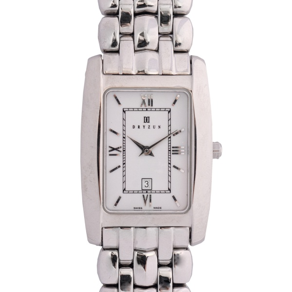 a7a160093e9 DRYZUN - Relógio de pulso masculino. Caixa e pulseira em aço. Quartz.  Pulseira aço. Calendário.