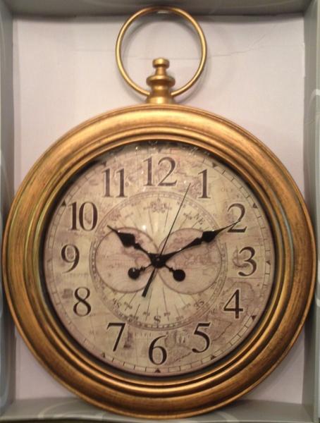 0e615965f3c Lindo e gigante este relógio de parede estilo vintage novo se uso medindo .