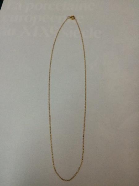 d1fef7a17bf Delicado cordão em ouro 18k. 42 cm