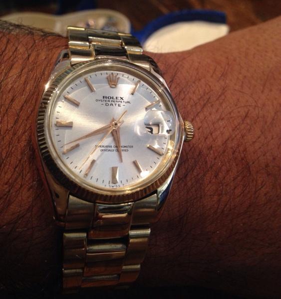 eab14655445 Relógio ROLEX OURO 18k Modelo Oyster Perpetual Date Tamanho da caixa 34 mm