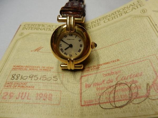 9bc1ff6f7e5 CARTIER PARIS 18 k - Clássico relógio Cartier em ouro maciço 18 k sobe o .