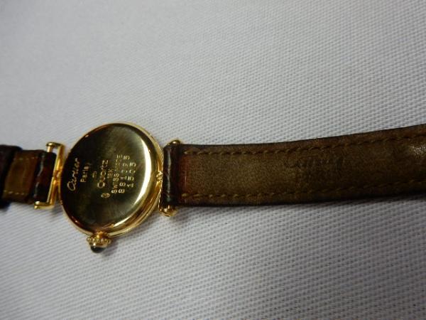 ddb73f28688 Peça. Visitas  1292. Tipo  Jóias. CARTIER PARIS 18 k - Clássico relógio  Cartier em ouro maciço 18 k sobe o ...