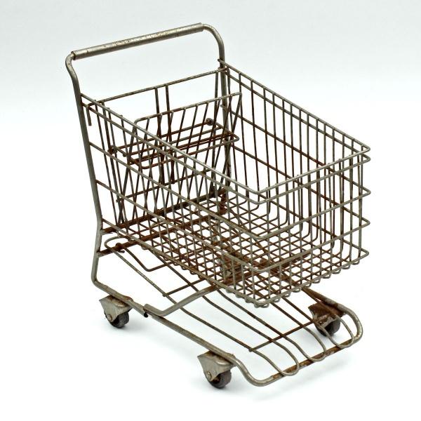 ac526333f3 Miniatura de carrinho de compras de mercado. Maquete fa
