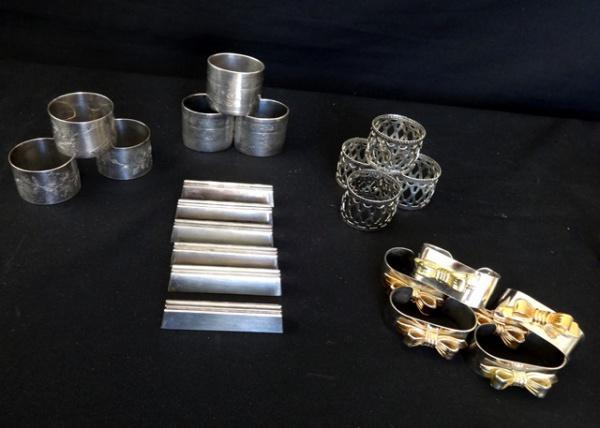 bd4b4c018d6 Vinte e dois porta guardanapos espessurados a prata em 5 modelos diferentes  modelos.