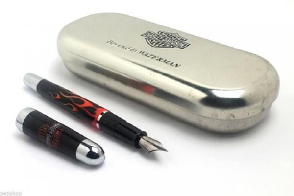 0fbda3d8fad WATERMAN PARIS HARLEY DAVIDSON - Impecável caneta tinteiro com corpo em  laca ... Valor Inicial