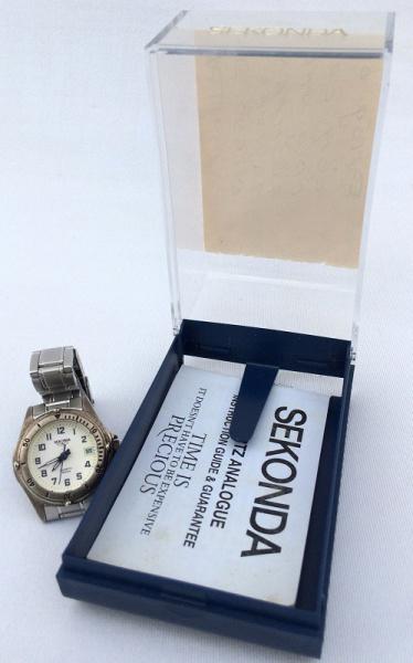 fa86e6d0d62 SEKONDA-Relógio feminino movimento á quartz com calendário