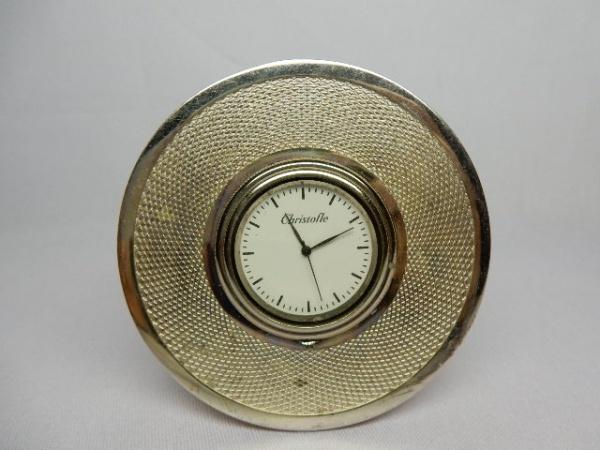 f5d77492764 Christofle France - Raro relógio de bolso em metal espessurado a prata com .