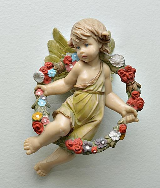 Escultura de anjo para parede em resina italiana 206155df80b90